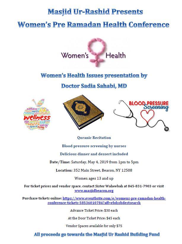 Women's Pre Ramadan Health Conference @ 352 Main Street