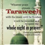Taraweeh Prayer @ Masjid Ar Rashid